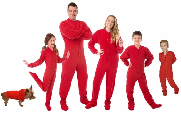 31bad704ce63 Family Matching Onesie Footed Pajamas by Big Feet Pajama Co www ...