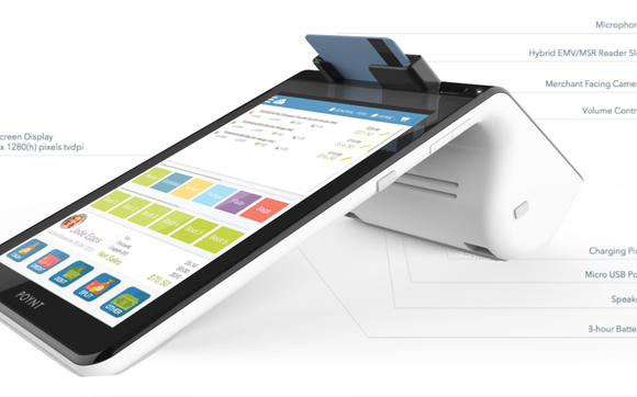 Poynt POS with built in EMV reader and printer $550 by Retailcloud