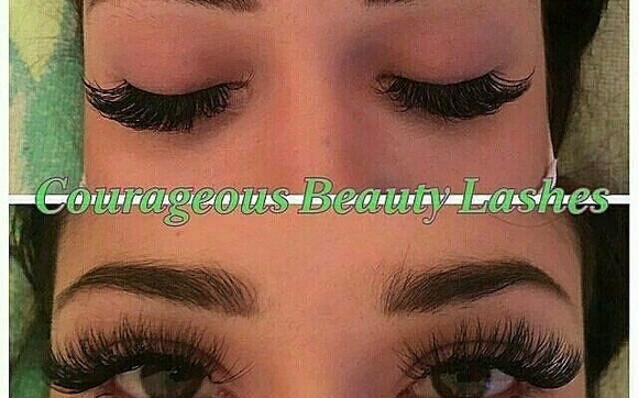 91560730556 Classic Semi-Permanent Mink Eyelash Extensions by Courageous Beauty ...
