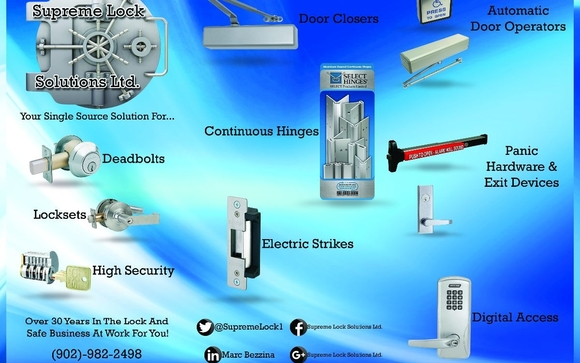 Locksmith/Door Services Halifax by Supreme Lock Solutions