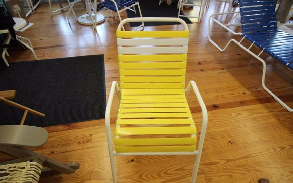 We Can Repair And Refinish Your Aluminum Framed Vinyl Strap Chairs Have A Variety Of Colors To Choose From Powder Coat Existing Chair Frame