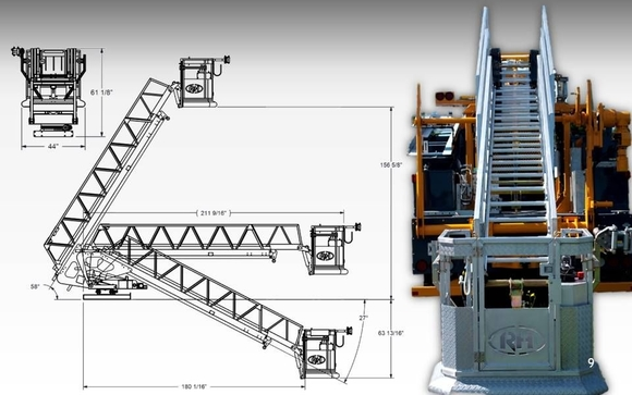 leadtime of only 6 months (aerial unit only) ground access  ladder access  for better security  truck cab and bucket intercom  telescopic 44ft ladder