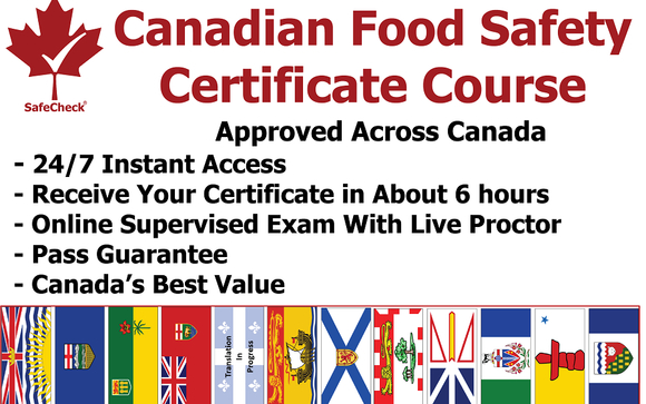 Food Safety Certification by Canadian Food Safety Group in