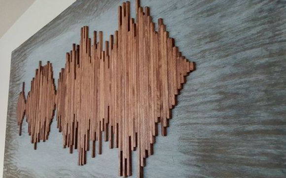 Custom Sound Wave Wall Art By Harris Handcrafted In Wimberley Tx