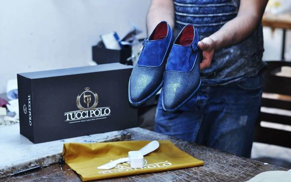 86d97e9e91b Buy TucciPolo Mens Genuine Blue Stingray with Half Suede Goodyear Welted Handmade  Monkstrap Pointed Toe Shoe.