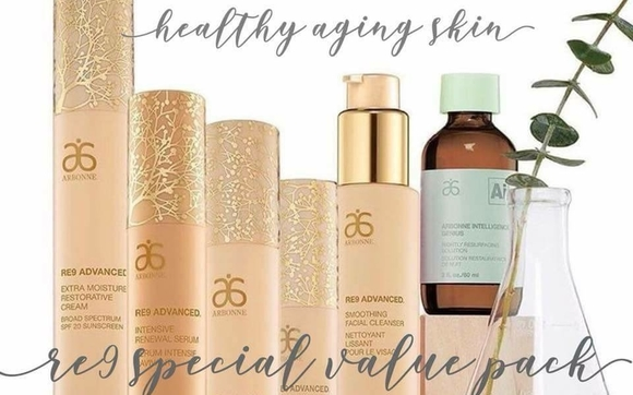 RE9 Anti-Aging Skin Care Set by Jennifer Fields-Arbonne Independent