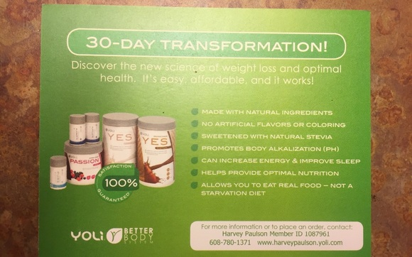 30 Day Transformation Kit by Yoli The Better Body System in