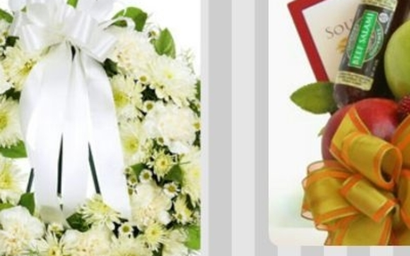 Leigh's Lovely Gift Baskets offers four Standing Sympathy Floral Arrangements with Same Day Delivery Service, gourmet gift baskets with and without Sympathy ...