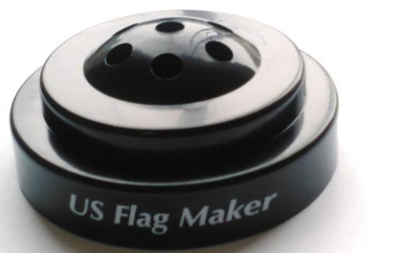 Imprinted Stick Flags & Bases by U S  Flag Maker in Marietta, GA