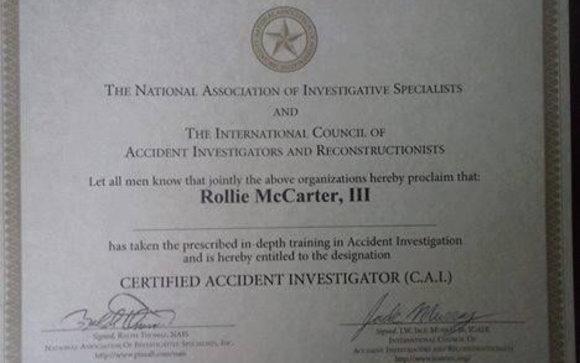 A Full Investigation Needed In Holyoke >> Certified Accident Investigator By Rollie Mccarter Investigative