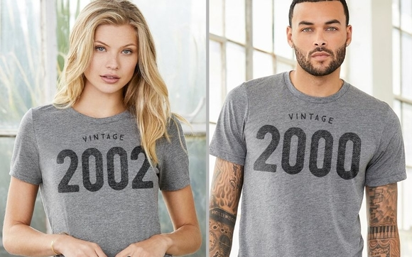 c50a5d8c Celebrate a birthday, graduation, anniversary or any year that has special  meaning to you. These soft, vintage-style tees are perfect gifts for both  men and ...