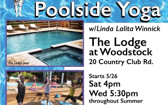poolside yoga at the LODGE starts Memorial Day weekend by Shakti