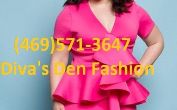 Plus Size Ruffle Midi Dress by Diva\'s Den Fashion in Dallas ...