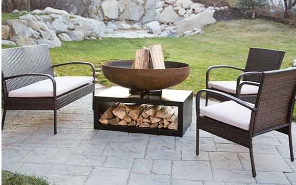 Iron Blossom Wood Burning Fire Pit By Yard Couture In Salt Lake City