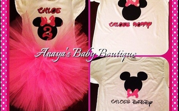 10368020 Minnie Mouse 2nd Birthday TuTu outfit with Mommy & Daddy shirts by ...