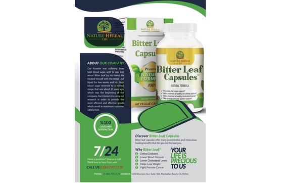 BITTER LEAF CAPSULES by Nature Herbal life, Inc  in Manhattan Beach