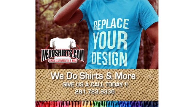adaecdbb4c Custom Screen printing and embroidery by WeDoShirts & More in ...
