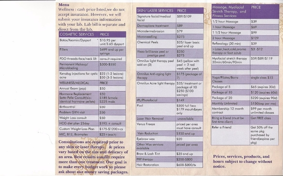 Menu of Services by All About You Medspa in Gilbert, AZ