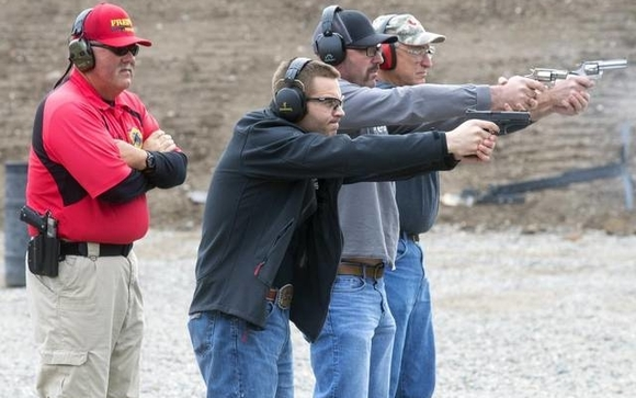 Handgun Permit Classes and firearms training  by USADefense LLC in