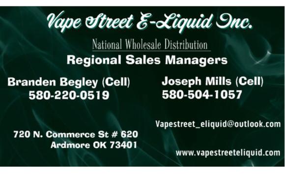 Vape Juice by Vape Street ELiquid Inc  in Ardmore, OK - Alignable