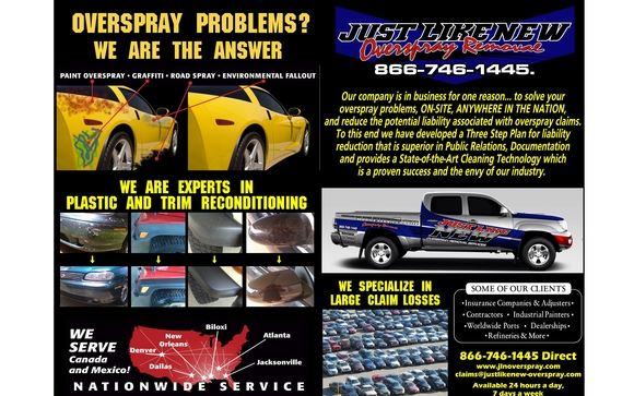 NATIONWIDE OVERSPRAY REMOVAL AND CATASTROPHE SERVICES by