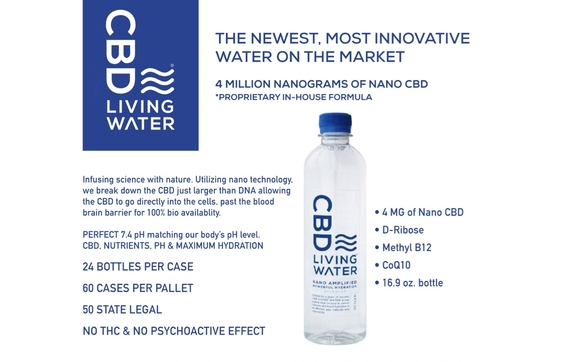 CBD Living Water by Florida CBD Living Wholesale in Palm