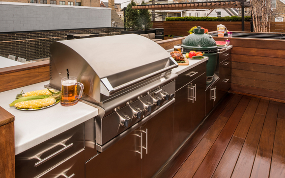 Danver and Brown Jordan stainless steel outdoor kitchen cabinets by ...