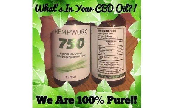 Pure Certified Full Spectrum Hemp CBD Oil from HempWorx by