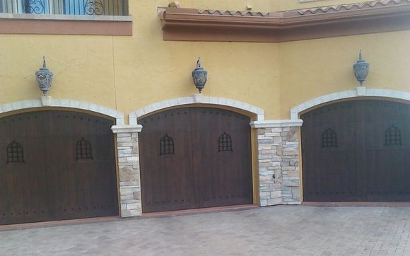 Faux Garage Door Painting By A New Leaf Painting Llc In